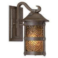 Minka Lavery® Lander Heights™ 12.5-Inch 1-Light Wall-Mount Outdoor Lantern in Forged Iron