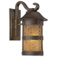 Minka Lavery® Lander Heights™ 17.25-Inch 1-Light Wall-Mount Outdoor Lantern in Forged Iron