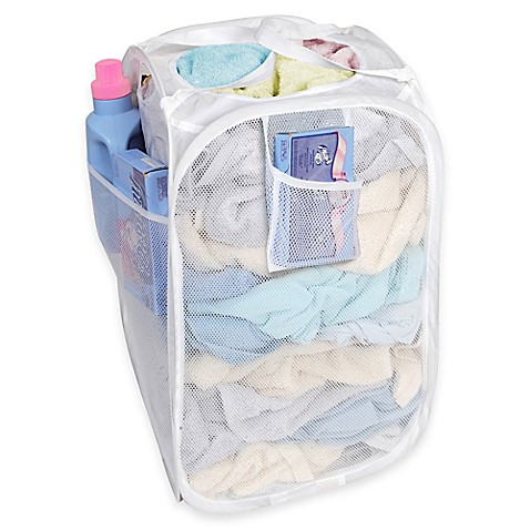 Deluxe Pop Up Hamper In White Bed Bath Amp Beyond