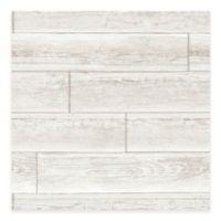 WallPops!® NuWallpaper™ Wood Paneling Peel & Stick Wallpaper in Cream