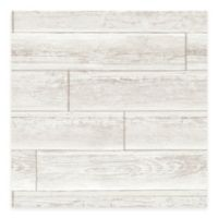 WallPops!® NuWallpaper™ Wood Paneling Peel & Stick Wallpaper in Cream