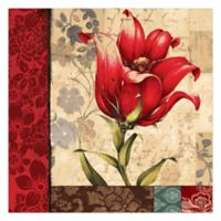 Pied Piper Creative Regal Red Flower 30-Inch x 30-Inch Canvas Wall Art