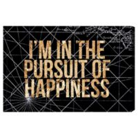 "Oliver Gal ""I'm in the Pursuit of Happiness"" Night Canvas Wall Art"