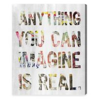 """Oliver Gal Artist Co. """"Anything You Can Imagine Is Real"""" Canvas Wall Art"""