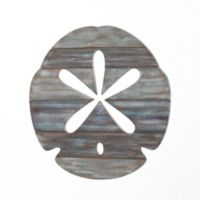 Sand Dollar Slatwood Panel Wall Art in Weathered Ivory