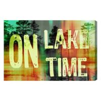 """Oliver Gal Artist Co. """"On Lake Time"""" Canvas Wall Art"""