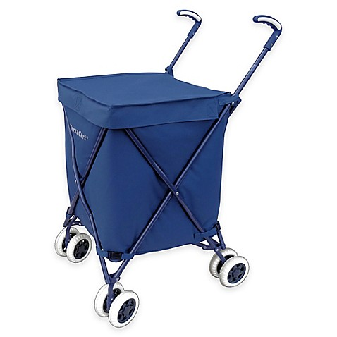 Versacart Folding Utility Cart In Navy Bed Bath Amp Beyond