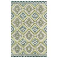 Kaleen Global Inspirations Diamond 3-Foot 6-Inch x 5-Foot 6-Inch Area Rug in Ivory