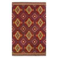 Kaleen Global Inspirations Diamond 5-Foot x 7-Foot 9-Inch Area Rug in Red