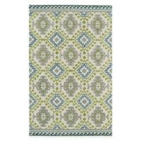 Kaleen Global Inspirations Diamond 5-Foot x 7-Foot 9-Inch Area Rug in Ivory