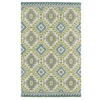 Kaleen Global Inspirations Diamond 8-Foot x 10-Foot Area Rug in Ivory