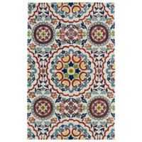 Kaleen Global Inspirations Center Medallion 3-Foot 6-Inch x 5-Foot 6-Inch Area Rug in Ivory