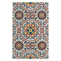 Kaleen Global Inspirations Center Medallion 5-Foot x 7-Foot 9-Inch Area Rug in Ivory