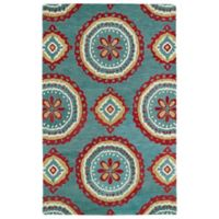 Kaleen Global Inspirations Medallion 8-Foot x 10-Foot Area Rug in Teal