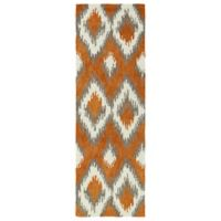Kaleen Global Inspirations Ikat 2-Foot 6-Inch x 8-Foot Runner in Paprika