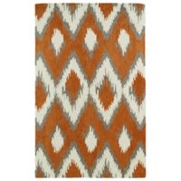 Kaleen Global Inspirations Ikat 3-Foot 6-Inch x 5-Foot 6-Inch Area Rug in Paprika
