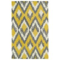 Kaleen Global Inspirations Ikat 3-Foot 6-Inch x 5-Foot 6-Inch Area Rug in Yellow