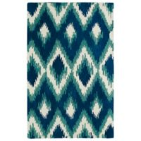 Kaleen Global Inspirations Ikat 3-Foot 6-Inch x 5-Foot 6-Inch Area Rug in Blue