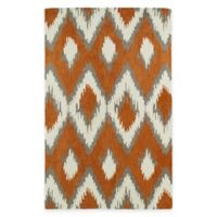 Kaleen Global Inspirations Ikat 5-Foot x 7-Foot 9-Inch Area Rug in Paprika