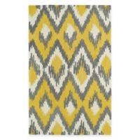 Kaleen Global Inspirations Ikat 5-Foot x 7-Foot 9-Inch Area Rug in Yellow