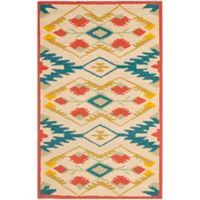 Safavieh Four Seasons Southwestern 2-Foot 6-Inch x 4-Foot Indoor/Outdoor Accent Rug in Natural/Blue