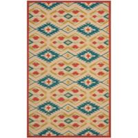 Safavieh Four Seasons Southwestern 3-Foot 6-Inch x 5-Foot 6-Inch Indoor/Outdoor Rug in Natural/Blue