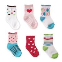 BabyVision® Luvable Friends® Size 0-6M 6-Pack Computer Cushion Socks in Pink