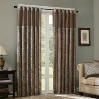 Madison Park Aubrey 108-Inch Rod Pocket Window Curtain Panels in Blue