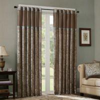 Madison Park Aubrey 108-Inch Rod Pocket Window Curtain Panel Pair in Blue