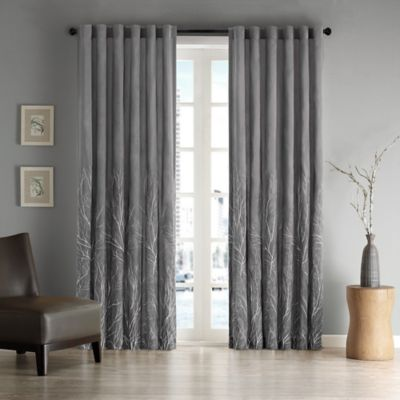 Madison Park Andora 95 Inch Rod Pocket/Back Tab Lined Window Curtain Panel  In