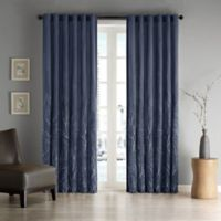Madison Park Andora 108-Inch Rod Pocket/Back Tab Lined Window Curtain Panel in Navy