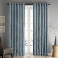 Madison Park Andora 108-Inch Rod Pocket/Back Tab Lined Window Curtain Panel in Blue
