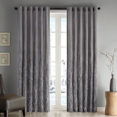 Madison Park Andora 108 Inch Rod Pocket/Back Tab Lined Window Curtain Panel  In