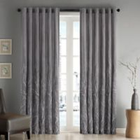Madison Park Andora 108-Inch Rod Pocket/Back Tab Lined Window Curtain Panel in Grey