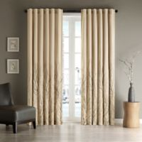 Madison Park Andora 108-Inch Rod Pocket/Back Tab Lined Window Curtain Panel in Tan