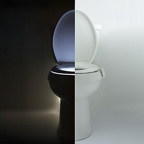 Illumibowl motion activated toilet night light bed for Bathroom night light