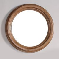 Malibu 40-Inch Round Mirror in Honey Alder