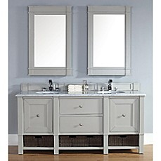 Madison 72-Inch Dove Grey Double Vanity with Drawers Collection