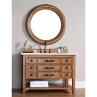 Malibu 48-Inch Honey Alder Wood Single Vanity with Cararra White Stone Top