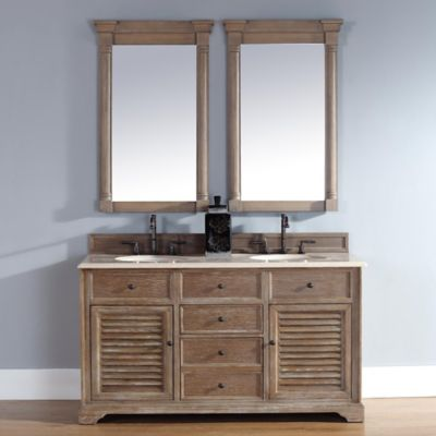 Buy Savannah 47 5 Inch Driftwood Vanity Cabinet With Drawers Without Countertop From Bed Bath