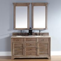 Savannah 59.5-Inch Driftwood Vanity Cabinet with Drawers without Countertop