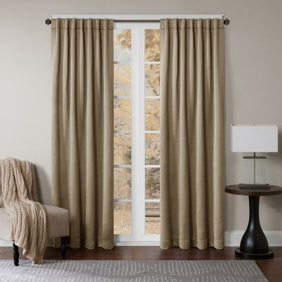 Princeton 63 Inch Rod Pocket/Back Tab Window Curtain Panel In Taupe