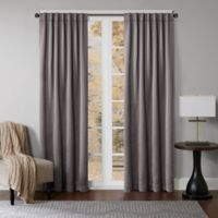 Princeton 63-Inch Rod Pocket/Back Tab Window Curtain Panel in Graphite