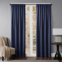 Princeton 63-Inch Rod Pocket/Back Tab Window Curtain Panel in Navy