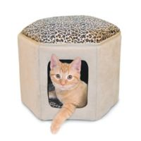 Thermo-Kitty Sleephouse™ Heated Cat Bed in Tan/Leopard