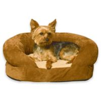 Ortho Bolster Small Pet Sleeper in Brown