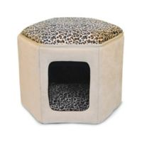 Kitty Sleephouse™ Small Cat Bed in Tan/Leopard