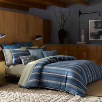 ED Ellen DeGeneres Azur Stripe Full/Queen Duvet Cover in Indigo