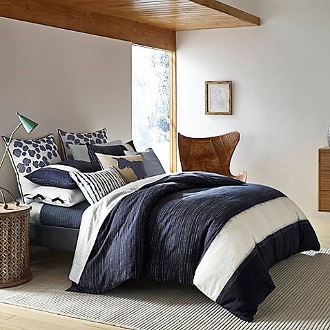 Ed Ellen Degeneres Bleu Comforter In Navy Bed Bath Amp Beyond