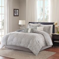 Madison Park Averly King/California King Duvet Cover Set in Grey